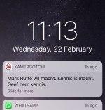 Kamergotchi Rutte wil macht